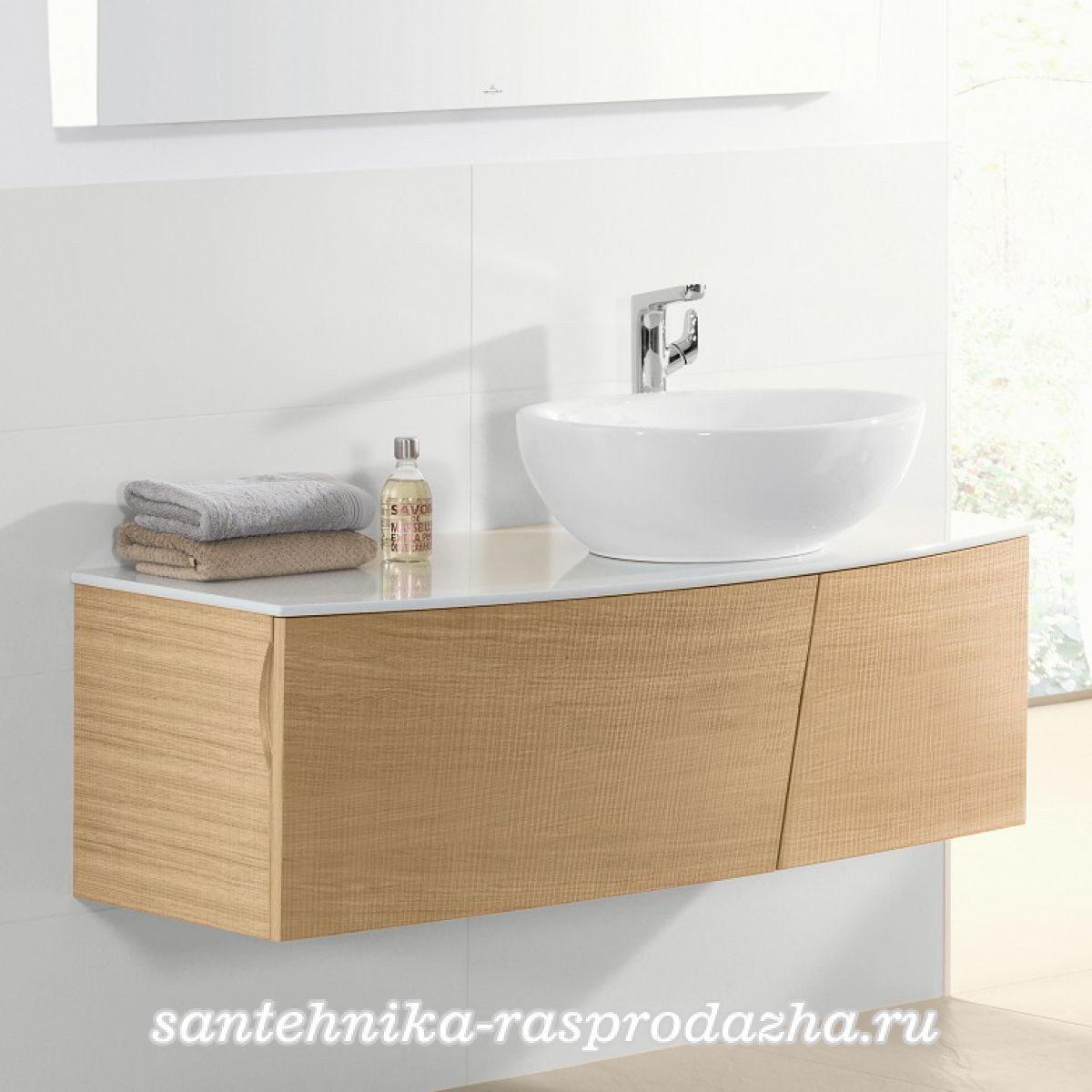 Тумба с раковиной Villeroy & Boch Aveo new generation 130 pure oak